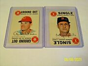 Pete Rose And Carl Yastrzemski Topps 1968 Lot Of 2 Game Cards...hard To Find