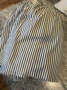 Vintage Farmhouse Williamsburg Ticking Country Curtains Cotton Double Bed Skirt