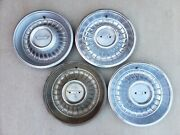 Oem 1962 Cadillac Set Of 4 Hubcaps Center Caps Wheel Covers Caddy Free Shipping
