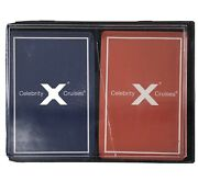 Two Vintage Decks Of Sealed Celebrity X Cruise Line Ship Playing Cards In Case