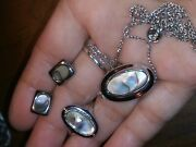 Avon Abolone Set Ring And Necklace/ Add Abolone Earrings That Match