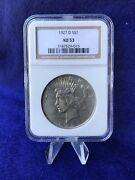 1927-d Peace Silver Dollar 1 White Coin Ngc Au53 About Uncirculated