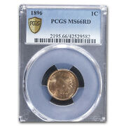 1896 Indian Head Cent Ms-66 Pcgs Red - Sku229000