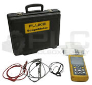 Fluke 123 Scopemeter With Case And Accessories Need Battery