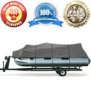 600d Waterproof Boat Cover Pontoon Cover Protection Fits 20and039-24and039 Long 102 Beam