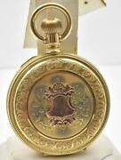 Antique 14k Multi Color Yellow Green Pink Gold 8 Size Hunting Case Elgin P Watch