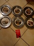 The Great American Revolution Pewter Plates 1776-1976 Bicentennial Set Of 6