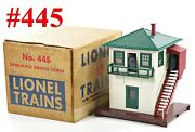 Lionel Pw 445 Operating Switch Tower W/box /2/ 1953-57