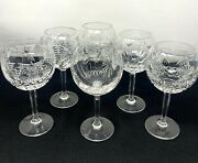 6 Waterford Crystal Millennium Toasting Balloon Wine Glasses Mixed Patterns