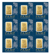L@@k Pamp   9 X 1g 9g Gold Multicard Bar Lady Fortuna   Minted Investment