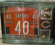 Chicago Bears Gale Sayers 40 Signed Nfl Jersey. Jsa Authenticated. Brand New.