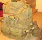 Usmc Mtv Modular Tactical Vest/scalable Plate Carrier Coyote Brown Large