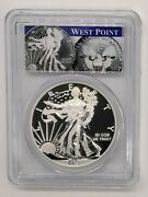2013-w Enhanced Silver Eagle Pcgs Ms70 First Strike West Point Label