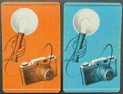 Old Fashioned Camera Flash Bulb 2 Single Swap Playing Cards Pair