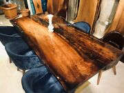 Made To Order Custom Acacia Wooden Epoxy Table Epoxy Dining Table Polished Top