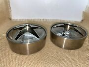 Pair Of Stainless Steel Covered Ashtrays Lone Star Texas Cowboy Mancave 4.6 4