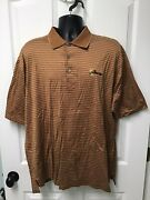 Ben Hogan Menand039s Golf Polo Shirt The Presidents Cup Brown W/ Beige Size Xl 193