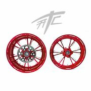 Yzf 240 Fat Tire Candy Red Contrast Vandetta Wheels 2015-2020 Yamaha Yzf R1