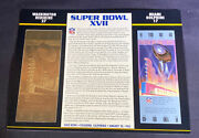 Willabee And Ward 22kt Gold Super Bowl Tickets Super Bowl Xvii