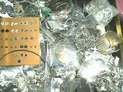 Junk Drawer Silver /other Metal 3-4 Lb + Lot Jewelry Wear Beads-necklaces 105