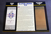 Willabee And Ward 22kt Gold Super Bowl Tickets Super Bowl Xx