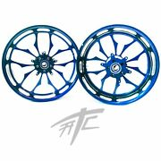 Yzf 240 Fat Tire Candy Blue Contrast Recluse Wheels 2004-2008 Yamaha Yzf R1