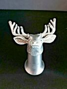 Jagermeister Pewter Shot Glasses Elk Stag 3 1/2 Tall W/ 7 Advertising Magnets