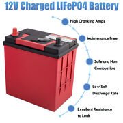 40b19r 12v Lithium-iron Battery Lifepo4 Deep Cycle W/ Bms Dual Power Replacement