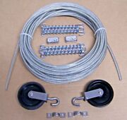 Marine Boat Pulley Tiller Rope Steering Cable 50 Ft, Pulleys, Springs, Clamps 1