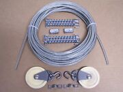 Marine Boat Pulley Tiller Rope Steering Cable 50 Ft, Pulleys, Springs, Clamps 6