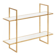 White/gold Decorative Wall Shelf Wall Mount Glam Modern Solid Mounting Hardware