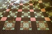 Antique Wonderful Quilt Hand Made For A Four Poster Bed  70 X 96