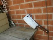 1950s Vintage 9 Blade X 2 3/4 Lbs. Foster Bros. Carbon Cleaver Knife Usa