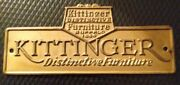 Antique Salvage Brass Furniture Tag Kittinger Authentic Furniture Free Ship
