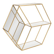 26 In. X 23 In. X 7 In. White/gold Decorative Wall Shelf Mounting Hardware