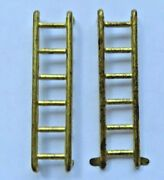 Original Pair Of Tin Gold Ladders For Marx Hubley Or Wyandotte Service Trucks