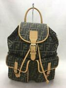 Fendi Zucca Pattern Backpack Backpack Brown Fashion Back Pack 1811 From Japan