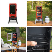 Pit Boss Vertical Lp Gas Bbq Smoker 3 Porcelain Grids 800 Sq In Home Cooking