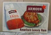 Antique Cardboard Armour Star 1940and039s Advertising Store Display Sign Extra Large