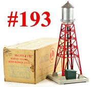 Lionel Pw 193 Water Tower Red W/blinking Light W/box /2/ 1953-55
