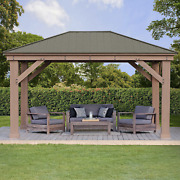 12and039 X 16and039 Cedar Outdoor Gazebo W/ Aluminum Roof Must Contact For Availability
