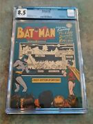 Batman 48 Cgc 8.5 Off White To White Pages 1948 Secrets Of The Batcave