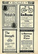 1896 Bicycle 4 Print Ad Lot Monarch Sterling Erie Barns White Flyer Unique 5122
