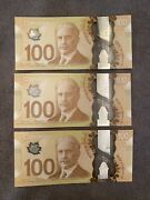 100 Complete Signature Set Of 2011 Polymer Bank Of Canada Notes Bunc