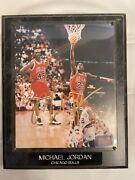 Michael Jordan Autograph Plaque - Rare Photo In 23 And 45 Jersey - Signed In Gold