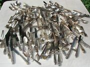 Silverplate Vintage Flatware Silverware 185 Piece Lot Crafts Spoons Forks Knives