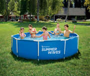 """Summer Waves 10' X 30"""" Active Metal Frame Pool With Filter Pump"""