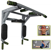 Fitsterr Pull Up Bar Wall Mounted - Easy To Install Wall Mount Pullup With Pro -