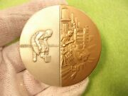 Supurb N/m Vtg 1867 - 1967 100yr Bronze And Sterling Silver Medal - Handy And Harman