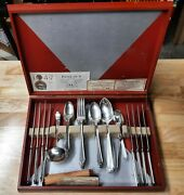 1847 Rogers Bros. And International Silverplate Silverware 42 Pcs + Case
